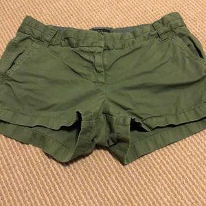 J. Crew Olive Green Chino Shorts